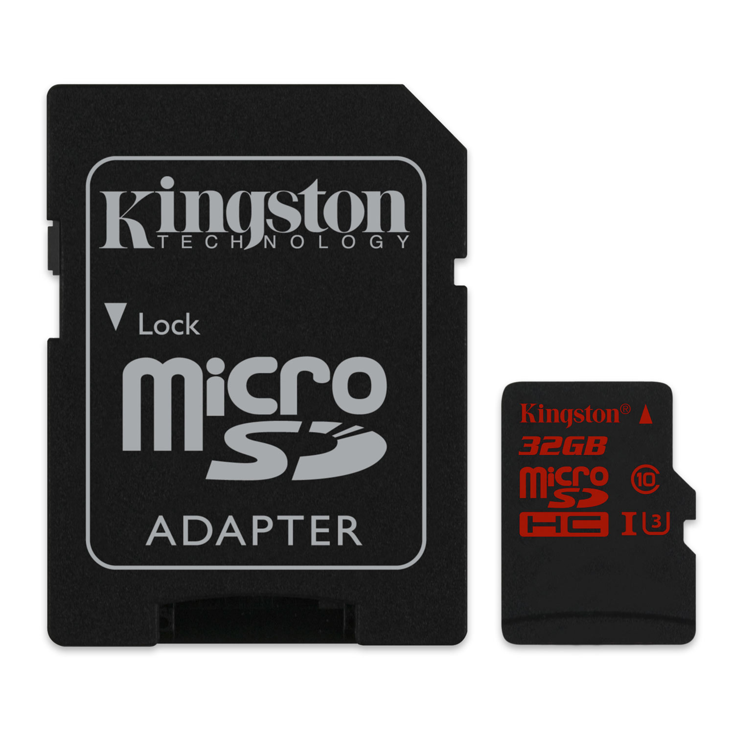 Kingston Micro SDHC 32Go UHS-I U3 + Adapt. - Carte mémoire - 3