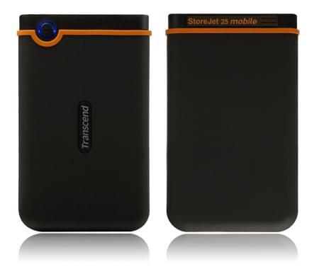 """Transcend 320Go 2""""1/2 USB2 StoreJet 25 Mobile Antichoc - Disque dur externe - 0"""