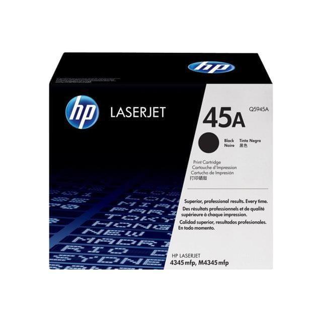 Toner Noir 18 000p - 45A  pour imprimante Laser HP - 0