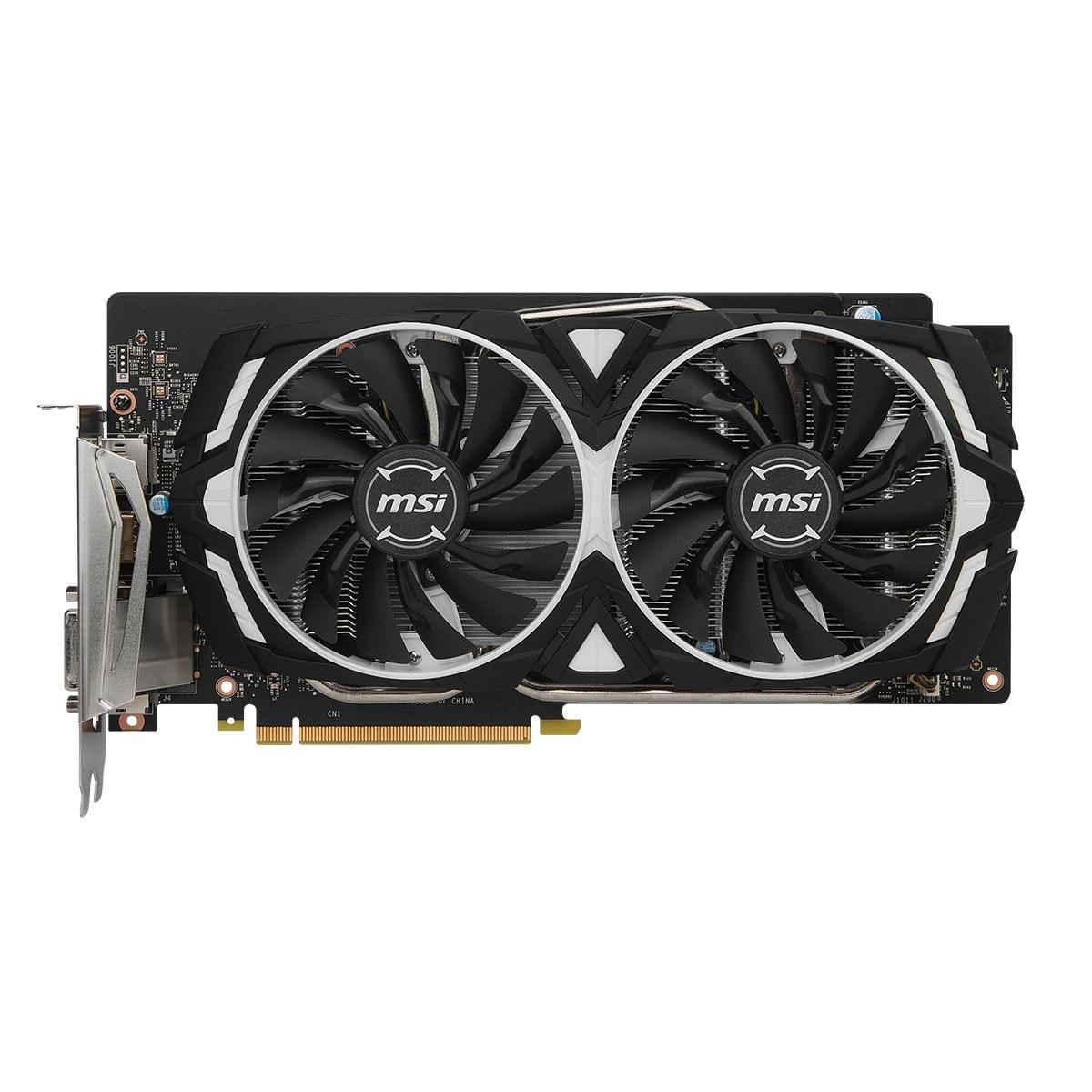 MSI nVidia GF GTX 1060 - 8Go - carte Graphique pour Gamer - GPU nVidia - 3