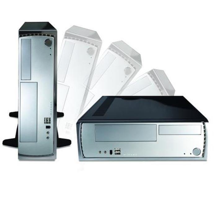 Antec LifeStyle Minuet 350 Black/Silver - Boîtier PC avec Alim - 0