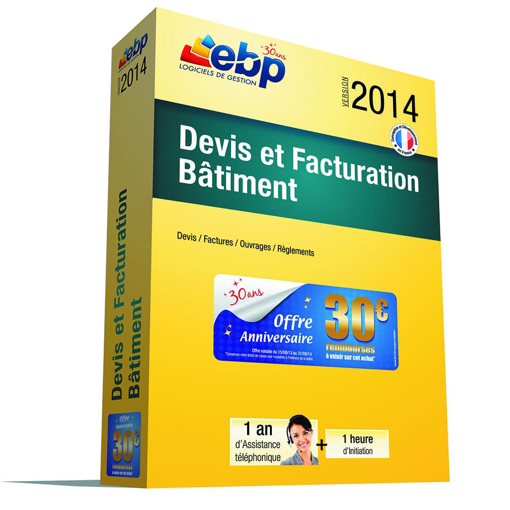 EBP Devis et Factures Bâtiment 2014 + Services VIP (1088J151FAB) - Achat / Vente Logiciel Application sur Cybertek.fr - 0
