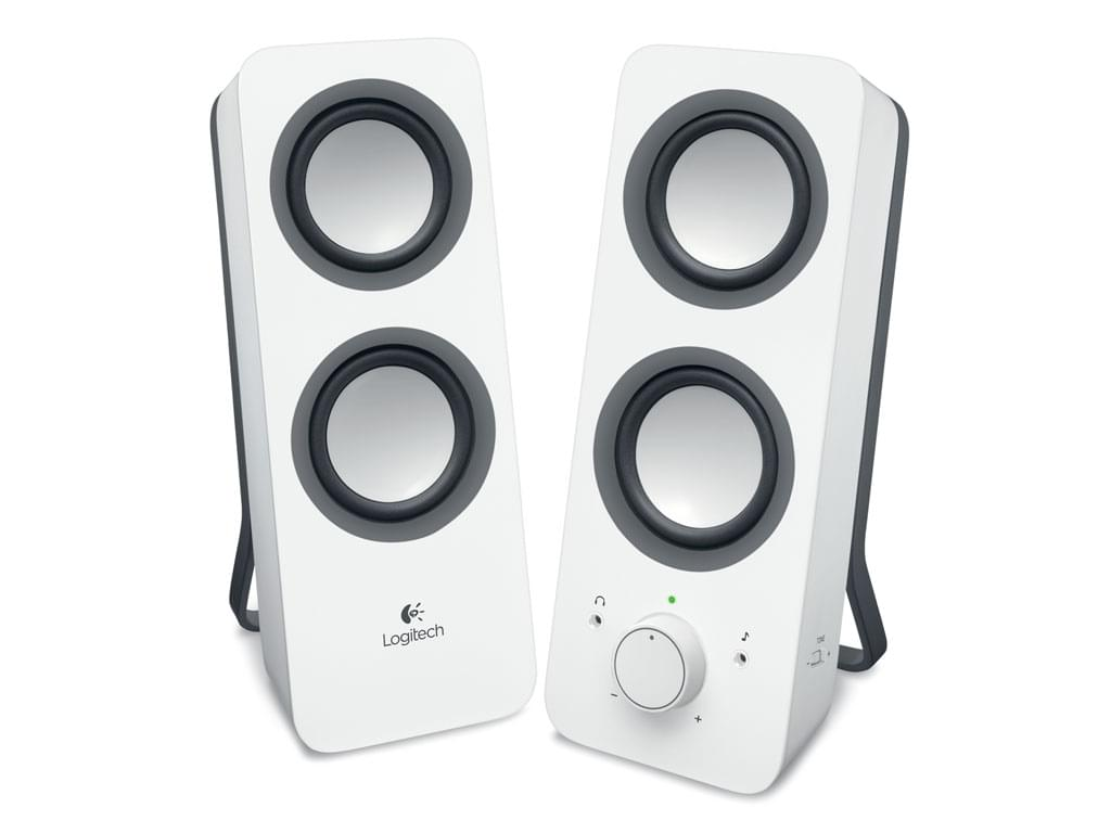 Logitech Multimedia Speakers Z200 Snow White 2HP (980-000811) - Achat / Vente Enceinte PC sur Cybertek.fr - 0
