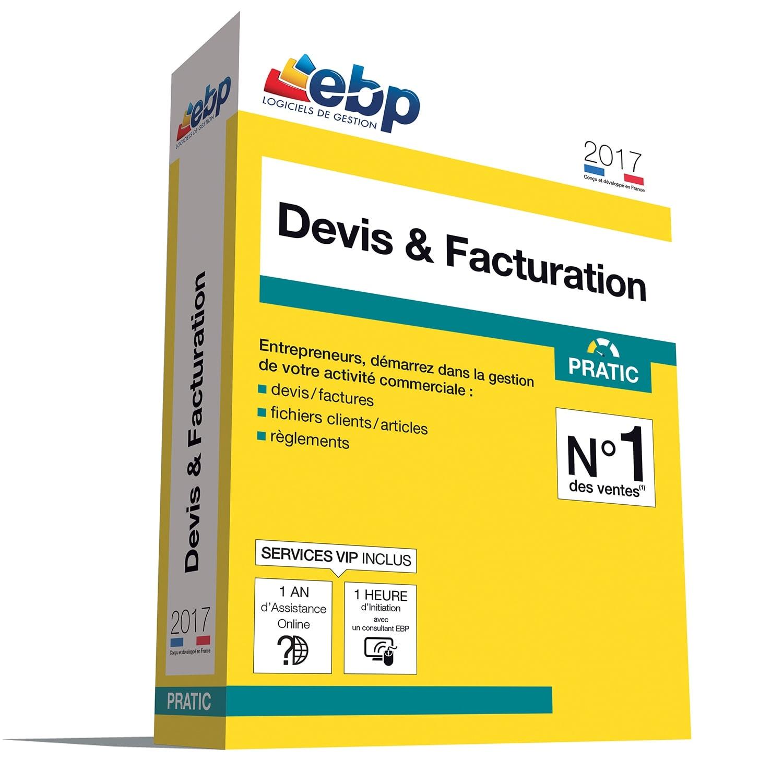 EBP Devis & Facturation Pratic 2017 + VIP (1008E091FAB) - Achat / Vente Logiciel Application sur Cybertek.fr - 0