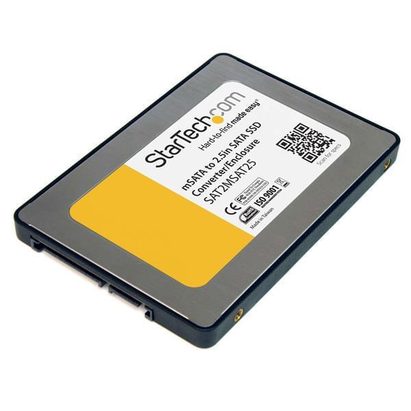 "StarTech 2.5 "" Adaptateur SSD Sata vers mSATA - Boîtier externe - 0"