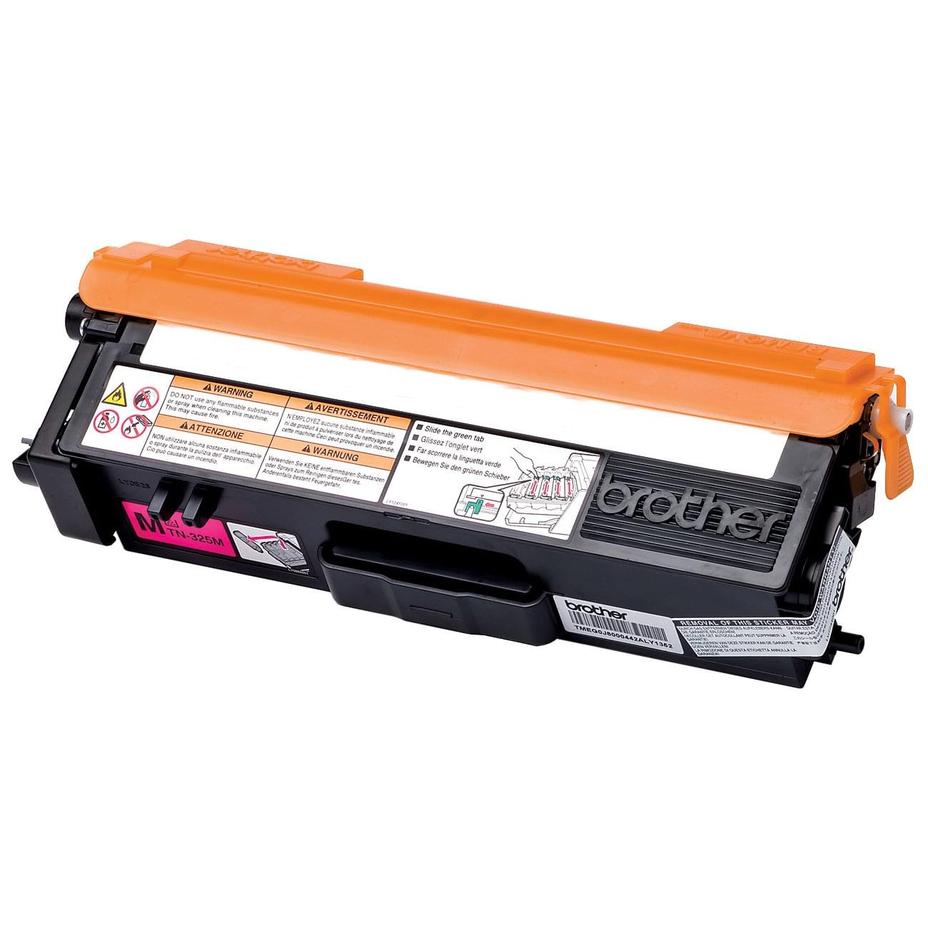 Toner TN320M Magenta - 1500p pour imprimante Laser Brother - 0
