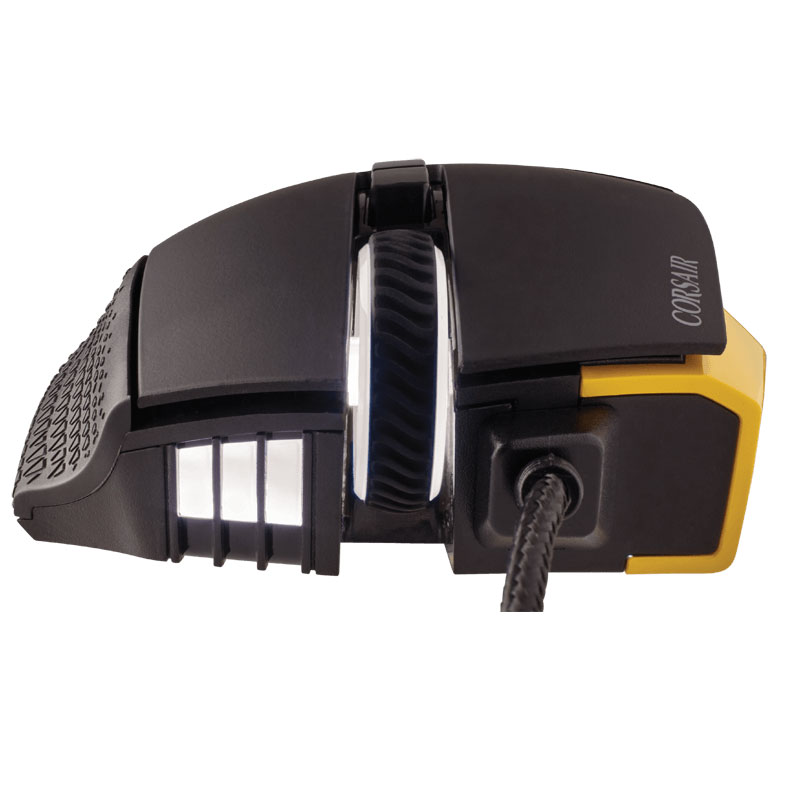 Corsair Scimitar Yellow RGB MOBA/MMO Gaming CH-9000091-EU (CH-9000091-EU) - Achat / Vente Souris PC sur Cybertek.fr - 3