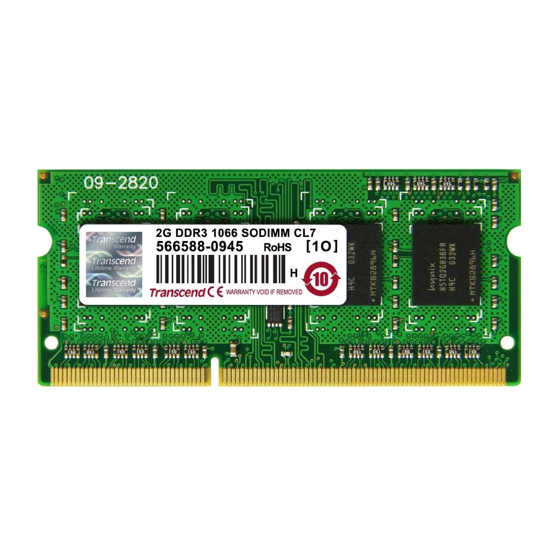 Transcend SO-DIMM 2Go DDR3 1066 CL7 JM1066KSN-2G (JM1066KSN-2G) - Achat / Vente Mémoire PC portable sur Cybertek.fr - 0