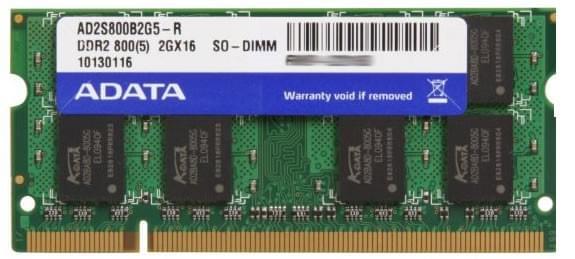 ADATA SO-DIMM 2Go DDR2 FSB800 AD2S800B2G6-S (AD2S800B2G6-S) - Achat / Vente Mémoire PC portable sur Cybertek.fr - 0