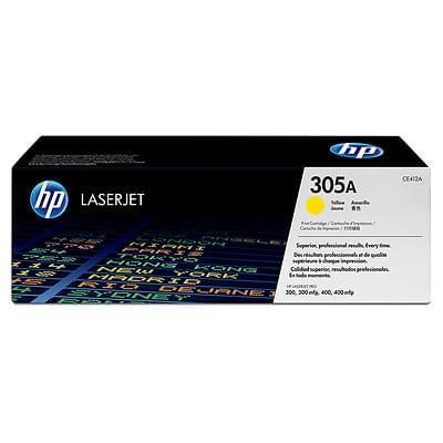Toner 305A Jaune CE412A pour imprimante Laser HP - 0