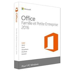 Microsoft Logiciel Suite bureautique Office Famille/Petite Entreprise 2016 DUST Cybertek