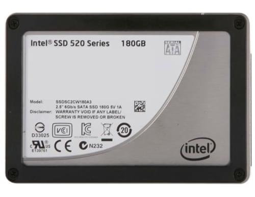 Intel 180Go SSD SATA 600 520 Series 160-180Go - Disque SSD Intel - 0