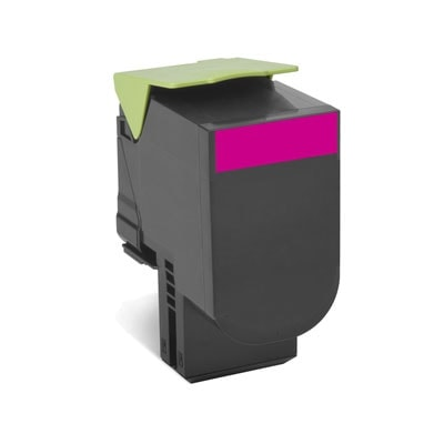 Toner Magenta 802SM - 80C2SM0 pour imprimante Laser Lexmark - 0