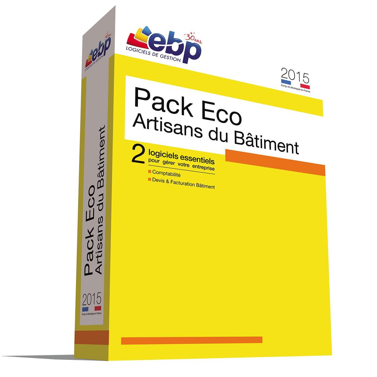 EBP Pack Eco Artisans du Bâtiment 2015 (1166J070FAF) - Achat / Vente Logiciel application sur Cybertek.fr - 0