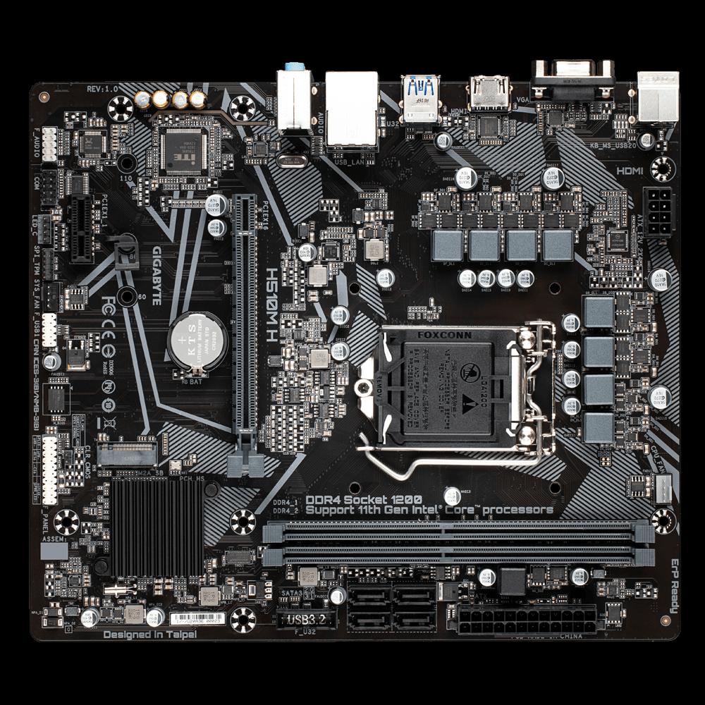 Gigabyte H510M H Micro-ATX DDR4 - Carte mère Gigabyte - 4