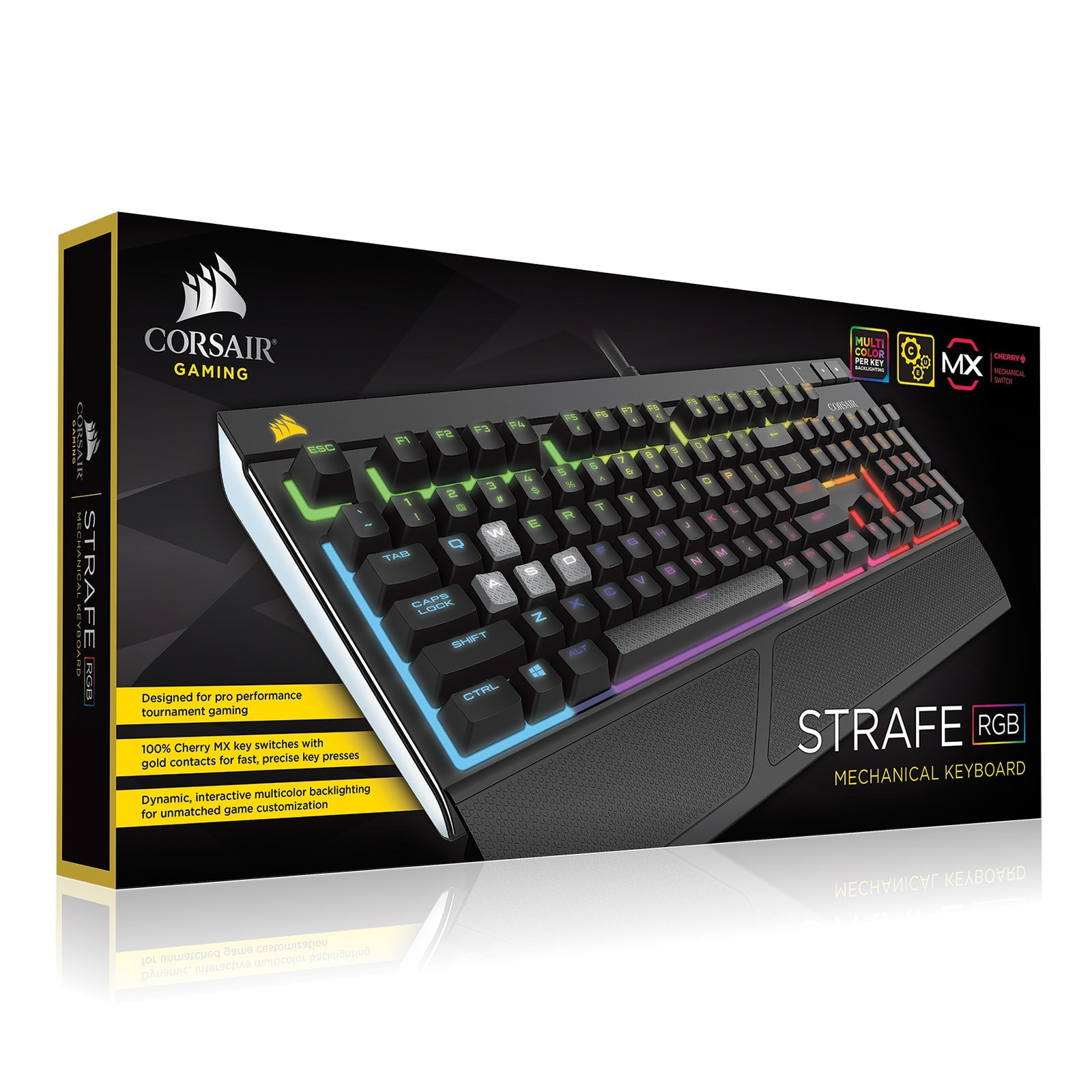 Corsair Strafe RGB Mechanical MX RED CH-9000227-FR - Clavier PC - 4