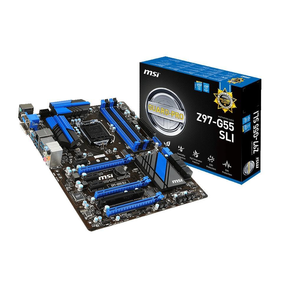 MSI Z97 G55 SLI (Z97-G55 SLI) - Achat / Vente Carte Mère sur Cybertek.fr - 0