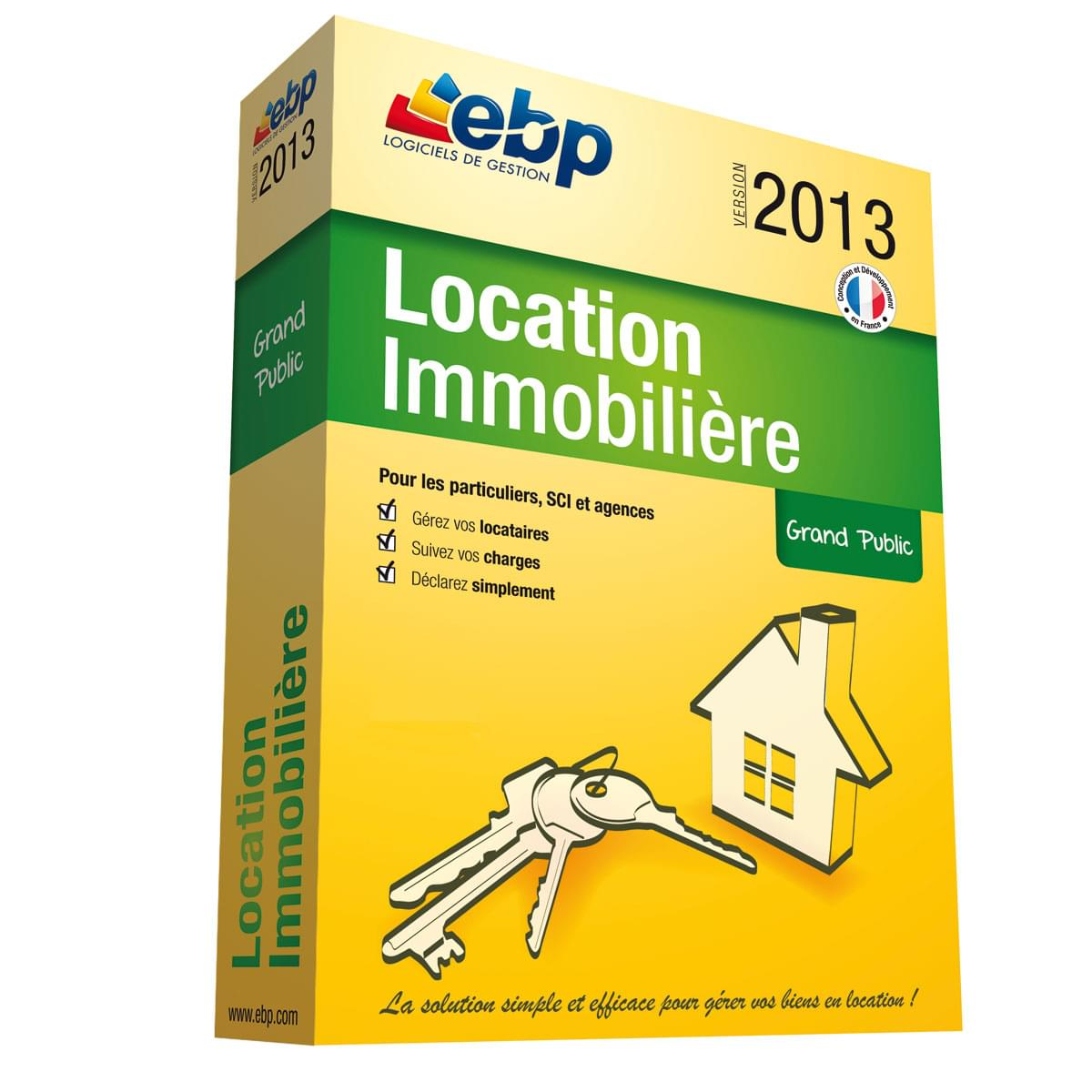 EBP Location Immobilière 2013 version 50 Lots (1053J050FBD) - Achat / Vente Logiciel Application sur Cybertek.fr - 0