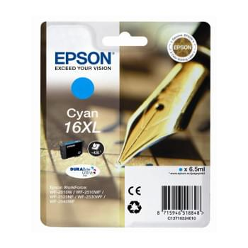 Cartouche d'encre Cyan 16XL - T1632 pour imprimante Jet d'encre Epson - 0