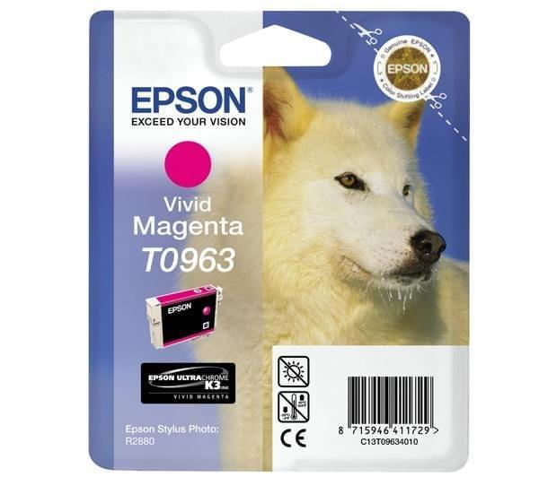 Epson Cartouche d'encre Magenta vif T0963 (C13T09634010) - Achat / Vente Consommable Imprimante sur Cybertek.fr - 0