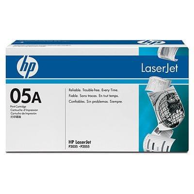 Toner CE505A Noir pour imprimante Laser HP - 0
