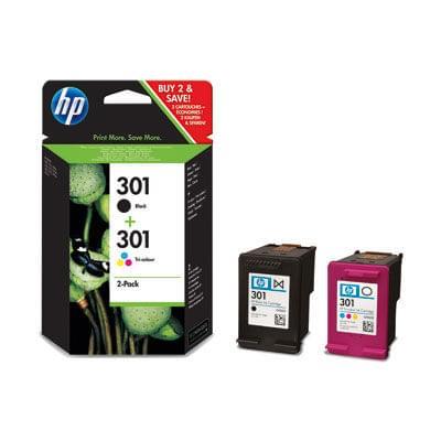 HP Pack Cartouches Noire + Couleur HP 301 (J3M81AE) - Achat / Vente Consommable Imprimante sur Cybertek.fr - 0