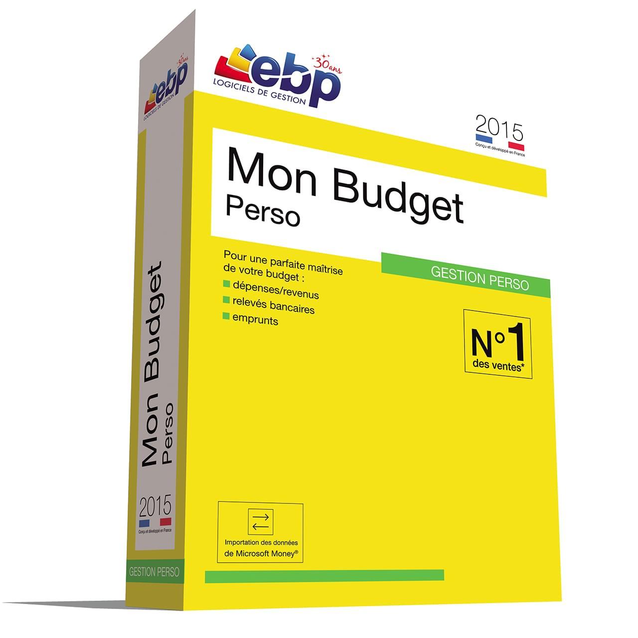 EBP Mon Budget Perso 2015 (1081E150FAB) - Achat / Vente Logiciel Application sur Cybertek.fr - 0