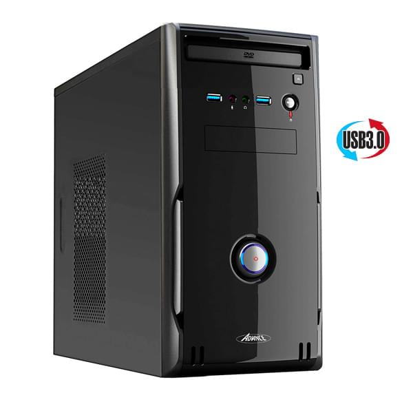 Advance mT/sans Alim/MATX/USB3 Noir - Boîtier PC Advance - 0