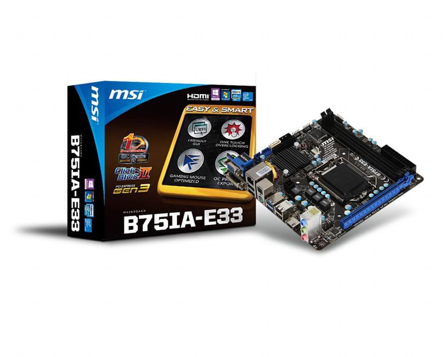 MSI B75IA-E33 Mini-ITX DDR3 - Carte mère MSI - Cybertek.fr - 0