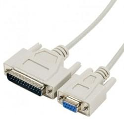No Name Cordon Null Modem DB9 Femelle DB25 male (576700) - Achat / Vente Connectique PC sur Cybertek.fr - 0