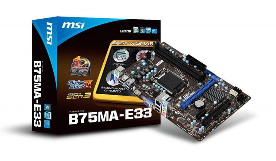 Carte mère MSI B75MA-E33 fdv - 0