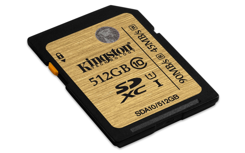 Kingston SDXC UHS-1 512Go Classe 10 (SDA10/512GB) - Achat / Vente Carte mémoire sur Cybertek.fr - 0