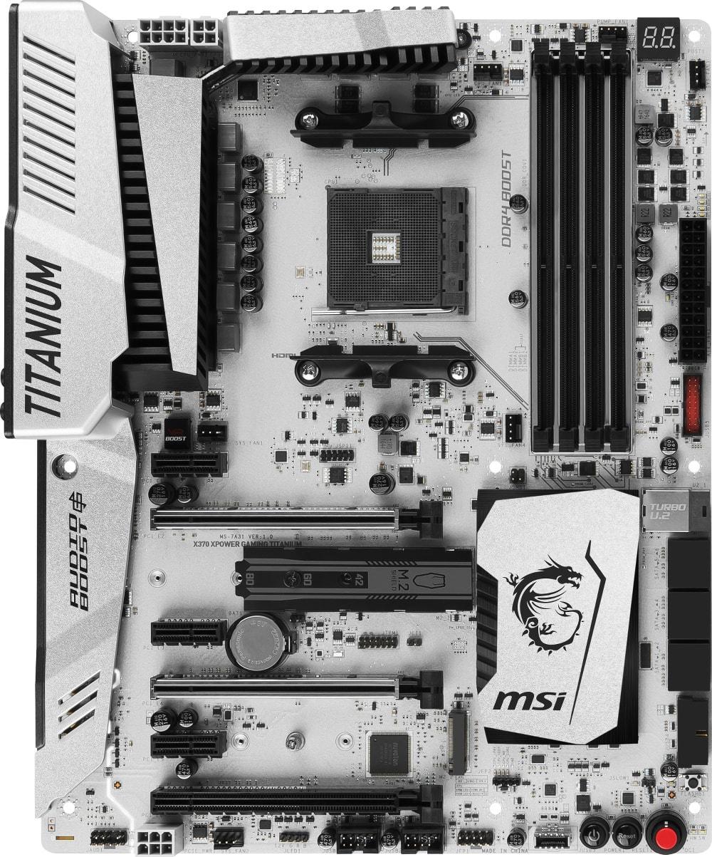 MSI X370 XPOWER GAMING TITANIUM ATX DDR4 - Carte mère MSI - 2