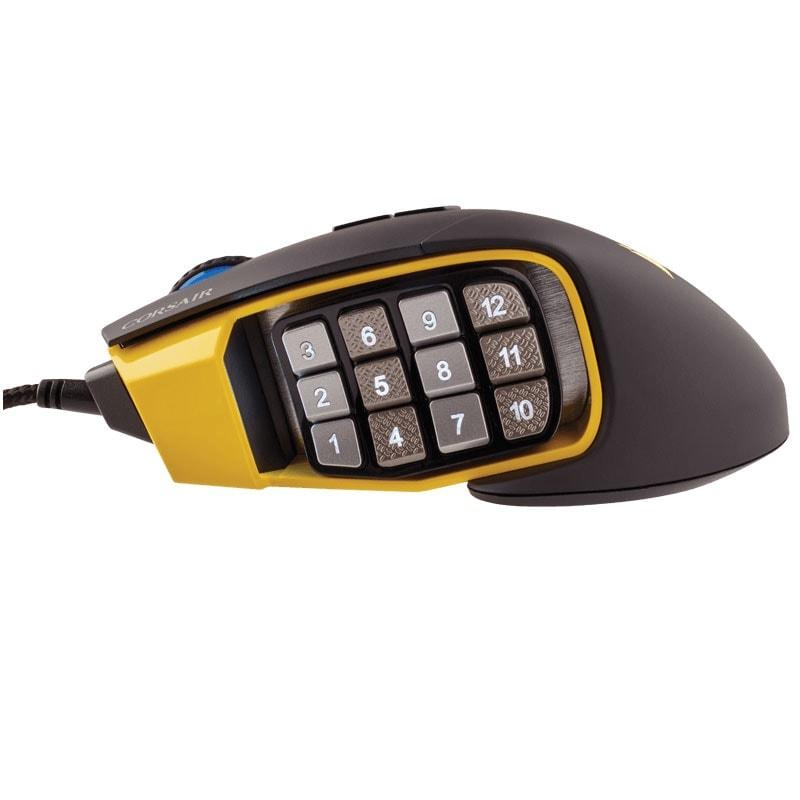 Corsair Scimitar Yellow RGB MOBA/MMO Gaming CH-9000091-EU (CH-9000091-EU) - Achat / Vente Souris PC sur Cybertek.fr - 4