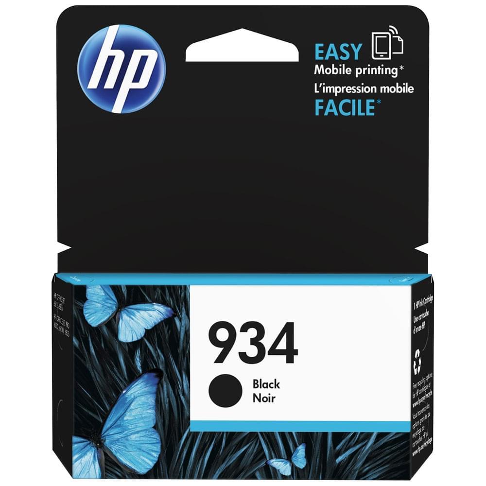 Cartouche 934 Noir 400p - C2P19AE pour imprimante Jet d'encre HP - 0