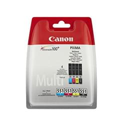 image produit Canon CLI-551 C/M/Y/BK Multipack - 6509B008 Cybertek