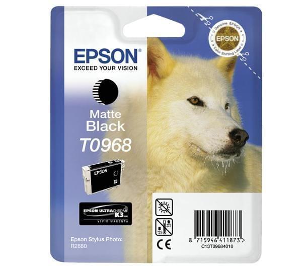 Cartouche d'encre Noir mat T0968 pour imprimante Jet d'encre Epson - 0