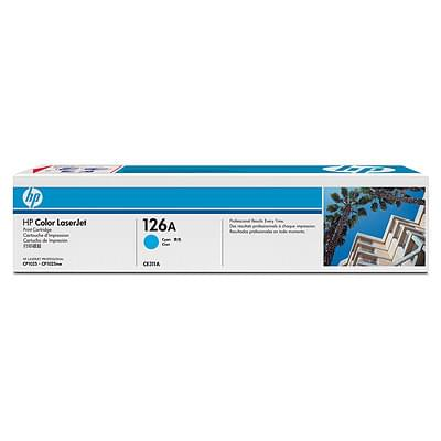 Consommable imprimante HP Toner 126A Cyan CE311A