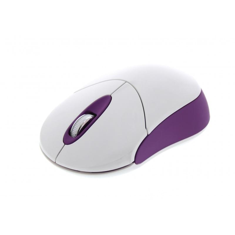 Souris PC T'nB CANDY - Souris sans fil - Blanc/Violet - 0