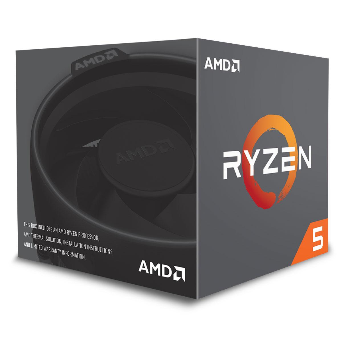 AMD Ryzen 5 1600 - 3.6GHz - Processeur AMD - Cybertek.fr - 0
