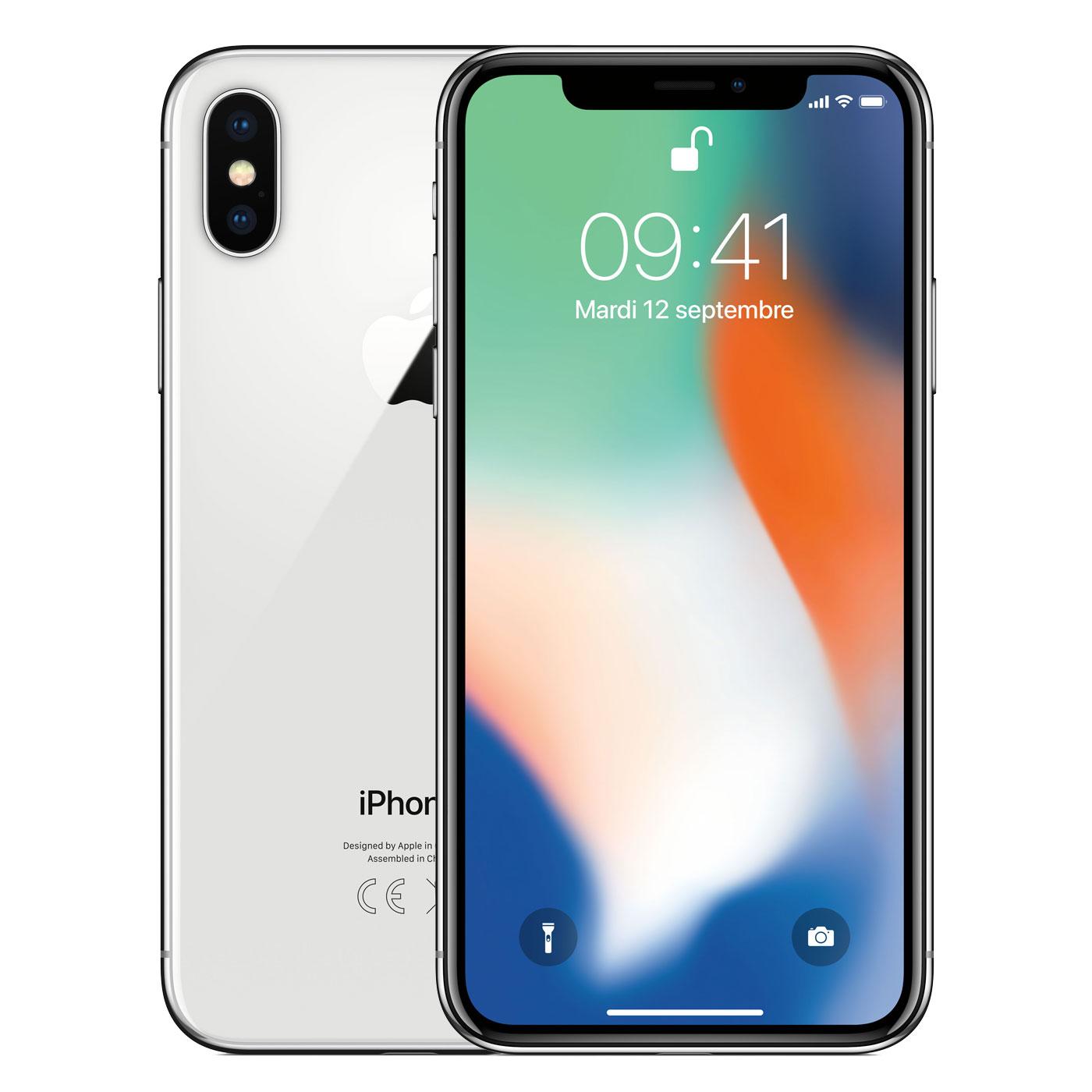 Apple iPhone X 256Go Argent - Téléphonie Apple - Cybertek.fr - 0