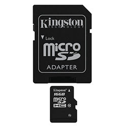 image produit Kingston Micro SDHC 16Go Class 10 + Adapt SDCS/16GB Cybertek