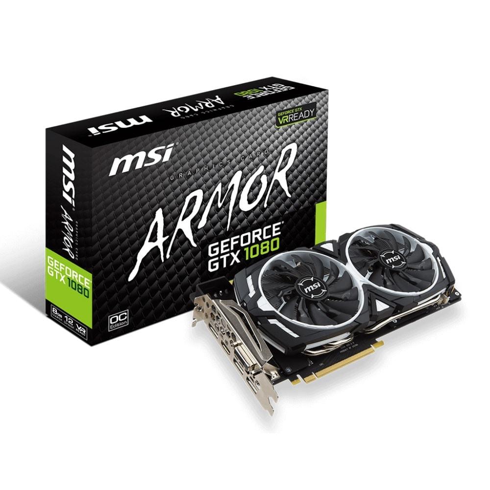 MSI GeForce GTX 1080 ARMOR 8G OC (912-V336-004) - Achat / Vente Carte Graphique sur Cybertek.fr - 0
