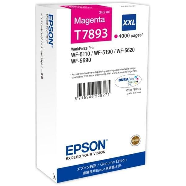 Epson Cartouche Magenta XXL T7893 4000 p. (C13T789340) - Achat / Vente Consommable Imprimante sur Cybertek.fr - 0