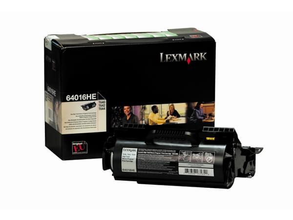 Toner Noir 21000p LRP T64X - 64016HE pour imprimante Laser Lexmark - 0