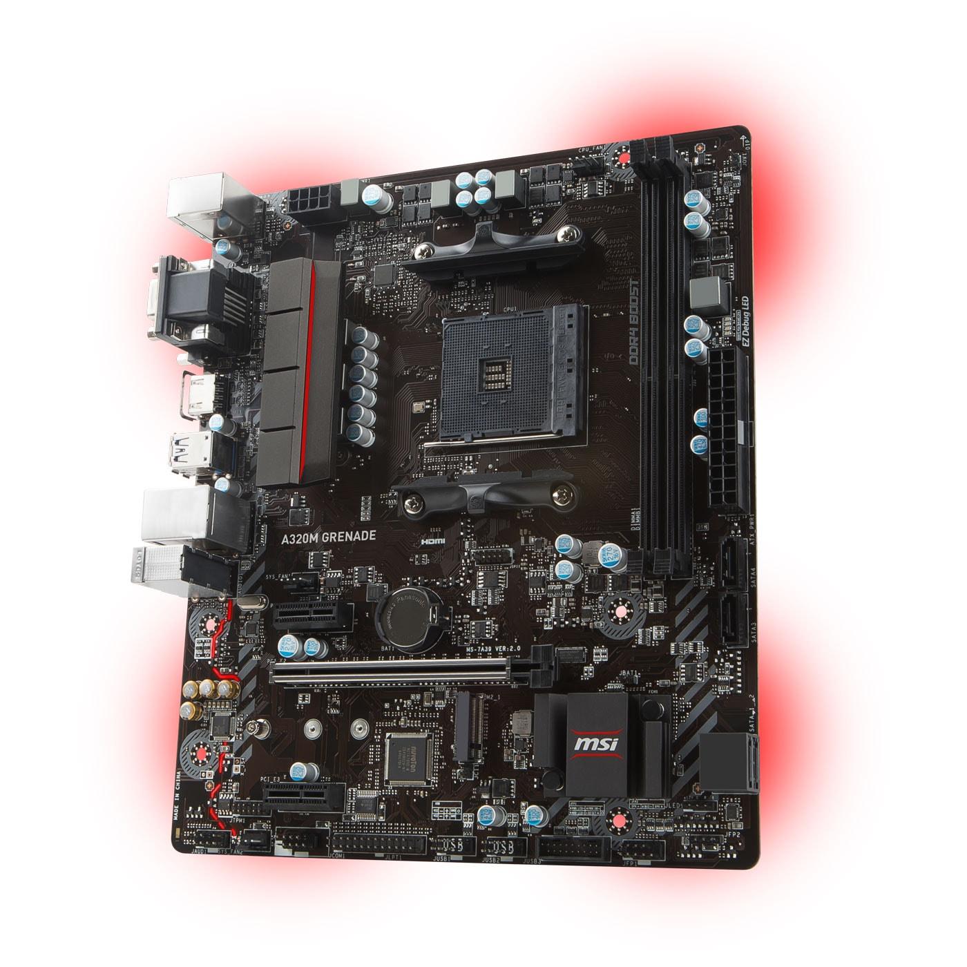 MSI A320M GRENADE Micro-ATX DDR4 - Carte mère MSI - Cybertek.fr - 3