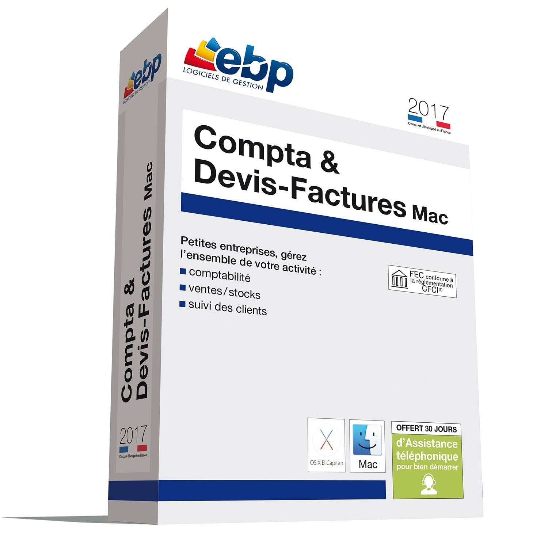 EBP Compta & Devis-Factures MAC 2017 (1098J090FAA) - Achat / Vente Logiciel Application sur Cybertek.fr - 0
