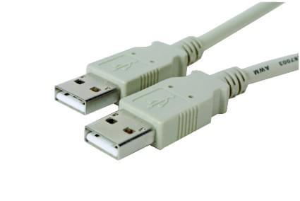 No Name Câble USB Mâle-Mâle pour relier 2 PC (151308) - Achat / Vente Connectique Réseau sur Cybertek.fr - 0