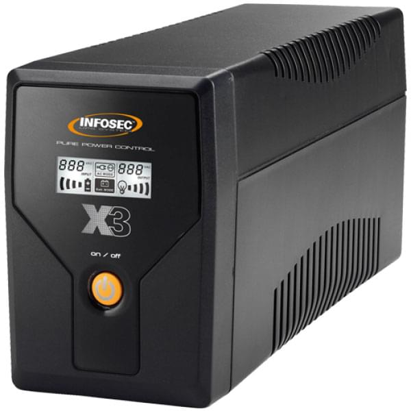 Infosec X3 EX LCD USB 1000 (65968) - Achat / Vente Onduleur - Multiprises sur Cybertek.fr - 0