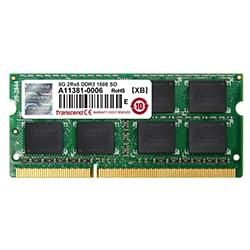 Transcend Mémoire PC portable SO-DIMM 8Go DDR3 1600 CL11 JM1600KSH-8G Cybertek